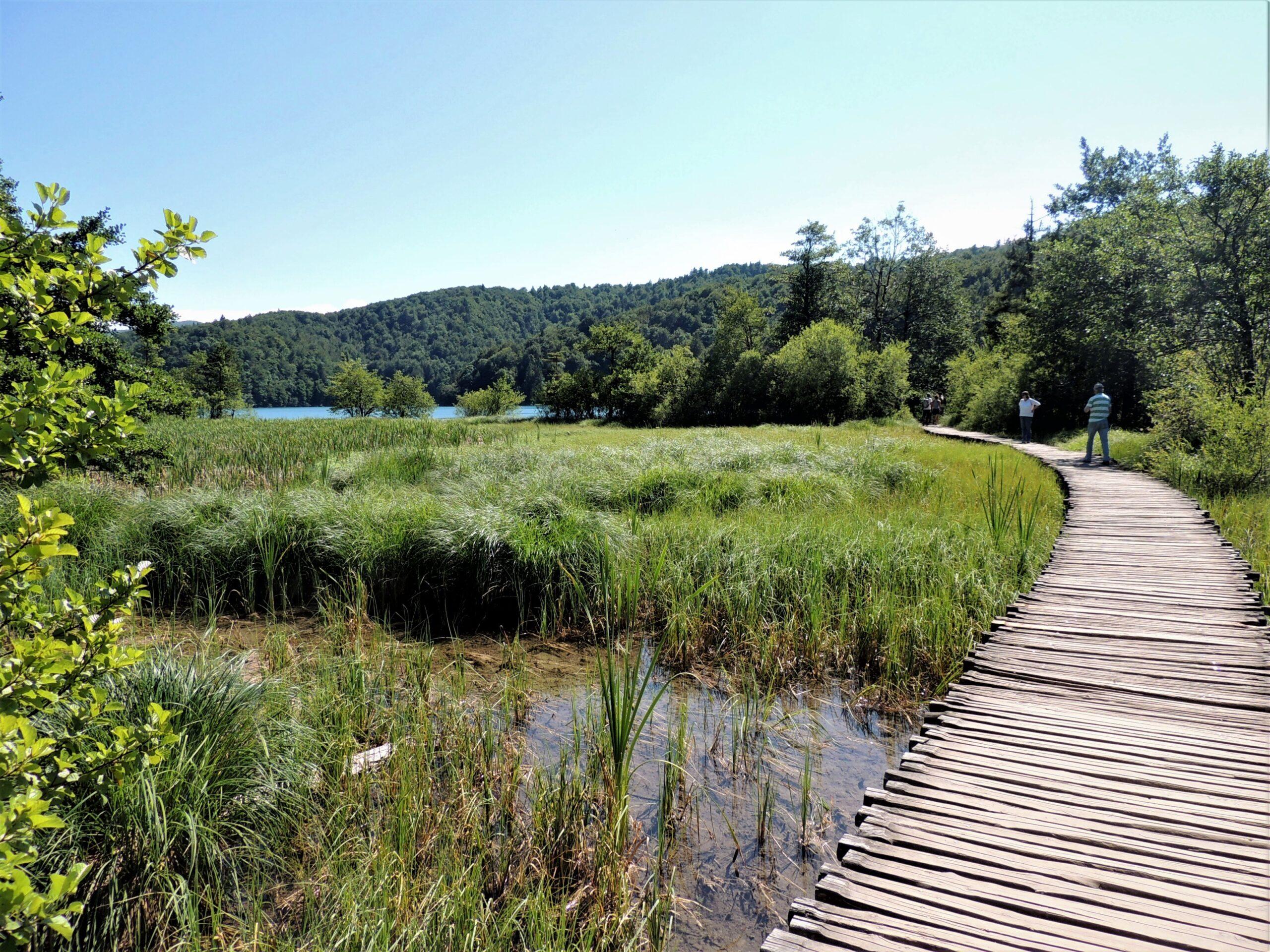 Kładki piesze – Jeziora Plitwickie, Chorwacja.