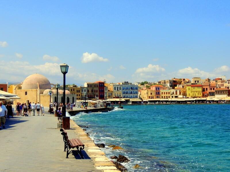Promenada miasta – Chania, Kreta, Grecja.