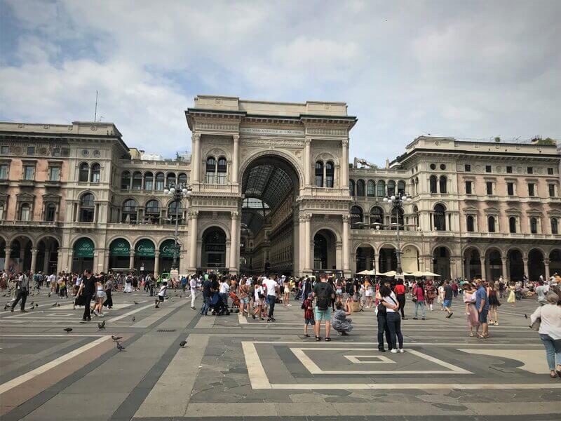 Galeria Vittorio Emanuele II – Mediolan, Lombardia, Włochy.