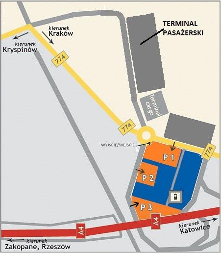 Dojazd do parkingu Orange Parking Kraków Balice